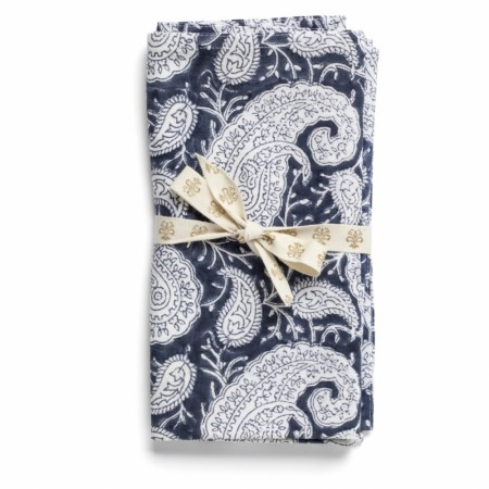 Serviett Big Paisley navy blue 2 stk - Chamois